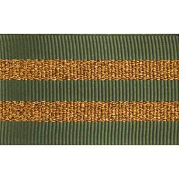 Gros grain silky rayures cuivrées 25mm - 58
