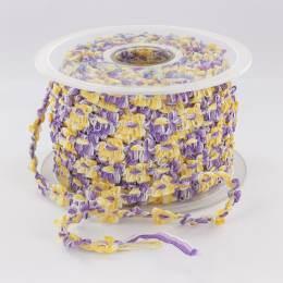 Galon rococo 10mm rigide violet/jaune