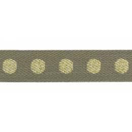 Sergé coton pois lurex 18mm - 58
