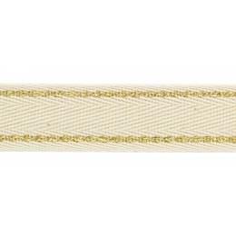 Sergé coton lisière lurex 20 mm - 58