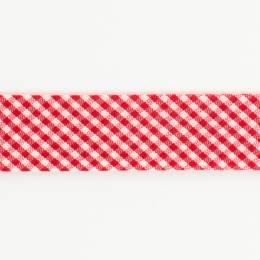 Biais mini vichy 36/18 rouge - 58