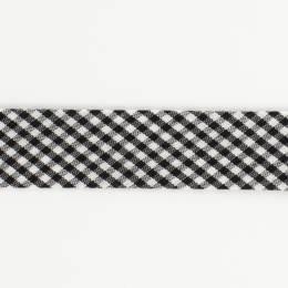 Biais mini vichy 36/18 noir - 58