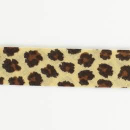 Biais léopard fond beige 36/18 - 58