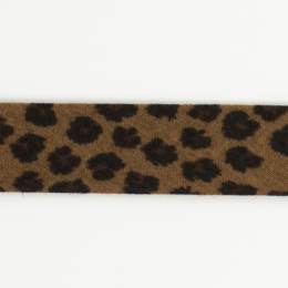 Biais léopard fond chocolat 36/18 - 58