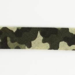Biais camouflage 36/18 kaki - 58