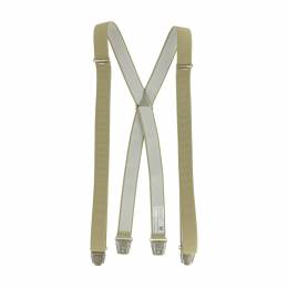 Bretelle striée pince 25mm 110cm beige - 62