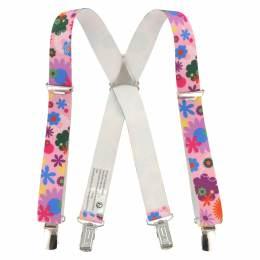 Bretelles enfant 25mm 70cm fleur - 62