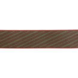 Bretelle biclip® rayée bordeaux - 62