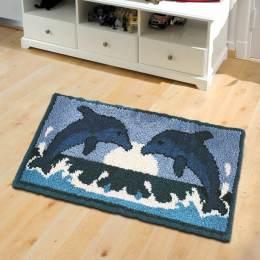 Tapis smyrnalaine les dauphins 50x100 - 64