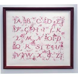 Abécédaire toile de jouy scène champètre - 64