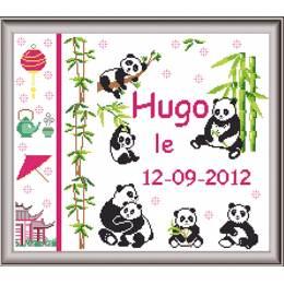 Tableau naissance panda 35/40 - 64