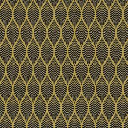 Tissu feuillage jaune nuit - 64