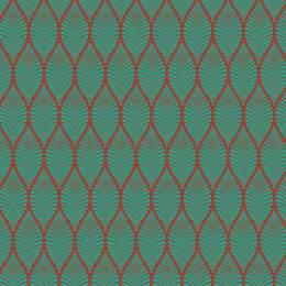 Tissu feuillage turquoise sienne - 64