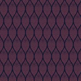Tissu feuillage violet nuit - 64