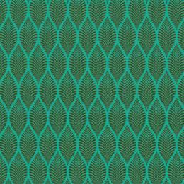 Tissu feuillage turquoise kaki - 64
