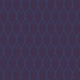 Tissu feuillage marine aubergine - 64