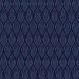 Tissu feuillage marine nuit - 64