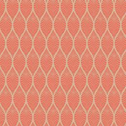 Tissu feuillage beige corail - 64