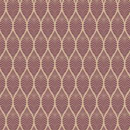 Tissu feuillage beige violet - 64