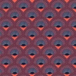 Tissu palmes violet - 64