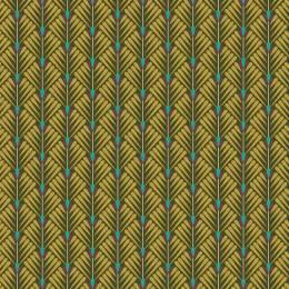 Tissu petales kaki - 64