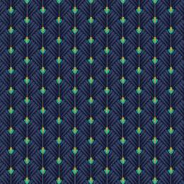 Tissu petales marine - 64