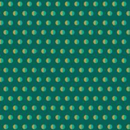 Tissu pois bicolore turquoise - 64