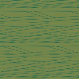 Tissu rayures jaune pétrole - 64