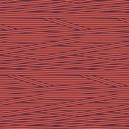 Tissu rayures corail aubergine - 64