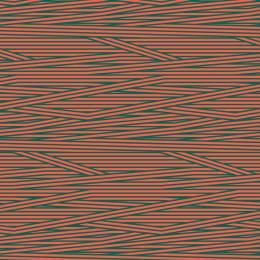 Tissu rayures corail pétrole - 64