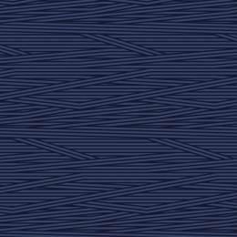 Tissu rayures marine nuit - 64