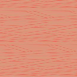 Tissu rayures beige corail - 64