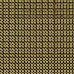 Tissu petite rosace jaune nuit - 64
