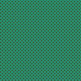 Tissu petite rosace turquoise kaki - 64
