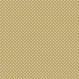 Tissu petite rosace beige jaune - 64