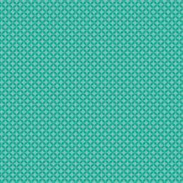 Tissu petite rosace eau turquoise - 64