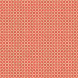 Tissu petite rosace beige corail - 64
