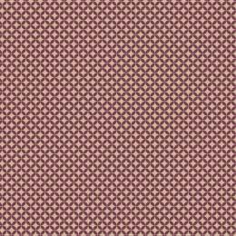 Tissu petite rosace beige violet - 64
