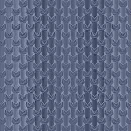 Tissu tresses marine ciel - 64