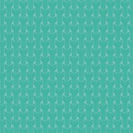 Tissu tresses turquoise eau - 64