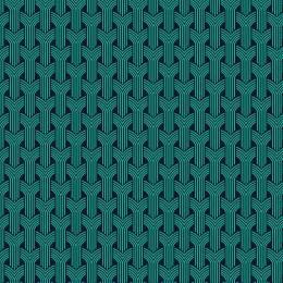 Tissu tresses turquoise nuit - 64