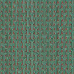 Tissu tresses turquoise sienne - 64