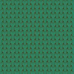 Tissu tresses turquoise kaki - 64