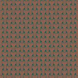 Tissu tresses corail pétrole - 64