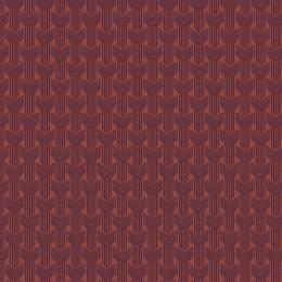 Tissu tresses aubergine sienne - 64