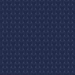 Tissu tresses nuit marine - 64