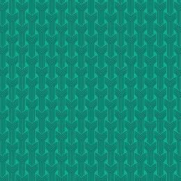 Tissu tresses petrole turquoise - 64