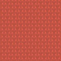 Tissu tresses sienne corail - 64