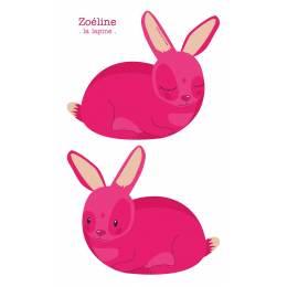 Coussin Zoéline la lapine - 64