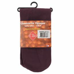 Chaussettes sans talon opaque t.u myrtille - 66
